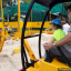 Diggersite at East Coast Park: construction excavator for kids
