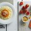 Recipe for baby: pasta with salmon, tomato and pumpkin