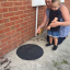 Mum Catches Son As He Almost Falls Nine Feet Down Drain Because Manhole Collapsed