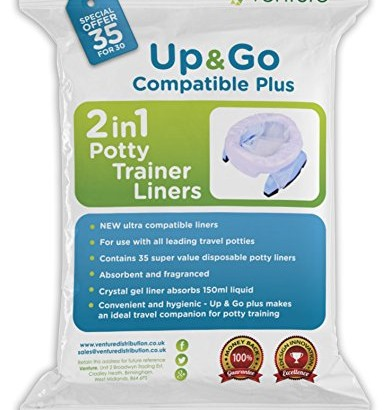 NEW RELEASE   Potette Plus 100% Compatible Travel Potty Liner   EXTRA Super Saver Bonus   Get 35 Up & Go Travel Liners For The Price Of 30