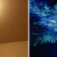 Boy Who Refused To Sleep In His Room Gets Incredible Glow-In-The-Dark Ceiling Makeover (And Loves It)