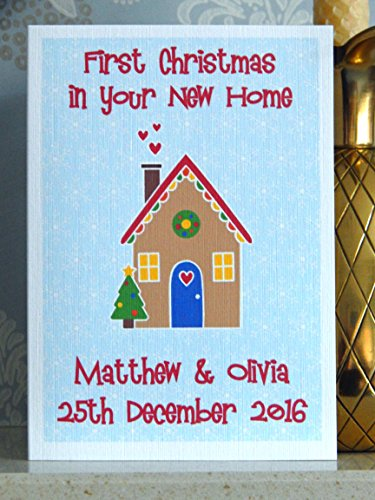 First christmas in your new home card personalised with any names a lovely personalised new home theme christmas card complete with envelope please send us a message contact seller after purchase with the m4hsunfo