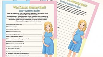 Baby Shower Game – Who Knows Mum Best? (20 Guests)