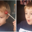 Kid Has A Lollipop Stuck To His Head, And His Reaction When He Finds It Is Priceless