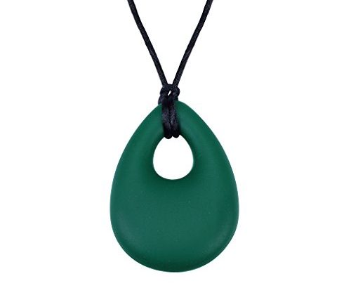 Edealing Silicone Pendant Baby Infant Teething Breastfeeding Chewable Necklace (Green)