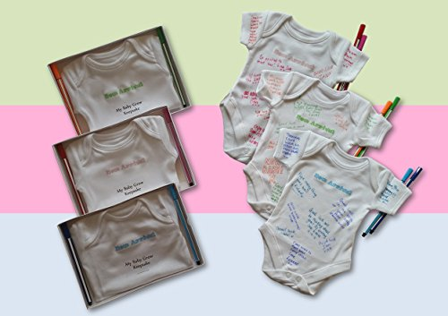 Personalised Sign- MY BABY GROW KEEPSAKE – baby shower game / leaving work gift (GREEN)