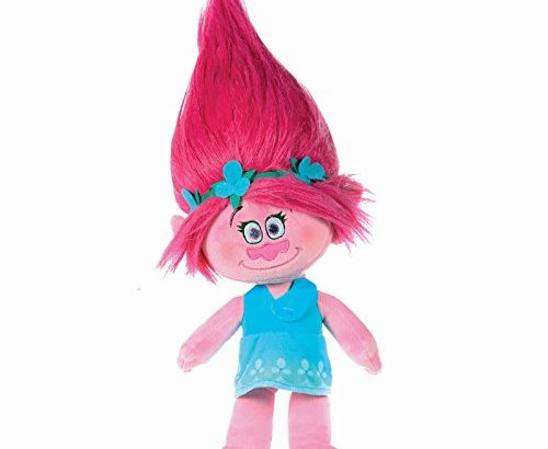 Trolls – Plush toy princess Poppy 14″/37cm, pink hair – Quality super soft