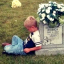 Five-Year-Old Boy Visits Twin's Grave To Tell Him About His First Day At School In Heartwarming Photo