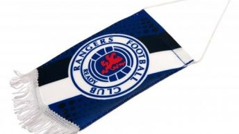 Official Rangers FC Mini Pennant – A Great Gift / Present For Men, Boys, Sons, Husbands, Dads, Boyfriends For Christmas, Birthdays, Fathers Day, Valentines Day, Anniversaries Or Just As A Treat For Any Avid Football Fan