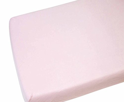 2x Cot Bed Fitted Sheets 100% Cotton Pink