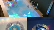 RISKER Bath Water LED Light Kids Waterproof Funny Bathroom Bathing Tub Toy