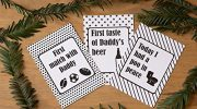 Daddy Journey Cards Monochrome Funny gift for new Dads DD014