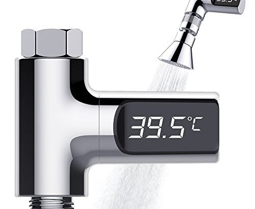 Tecboss LED Digital Shower Thermometer Real Time Water Temperature Monitor Kids Adults -Home Hotel Essentials 2017 Patent Pending – Celsius
