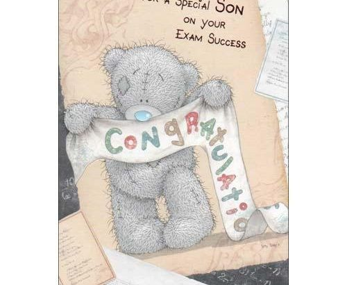 Special Son on Your Exam Success Me To You Bear Card