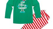 Pu Ran Kids Adult Matching Family Christmas Clothes Long Sleeve Outfits Set Homewear size S (men)