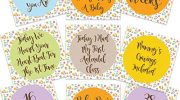 Baby Brain Pregnancy Milestone Cards Mum To Be Pregnancy Gifts Free Delivery