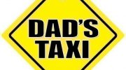 Dad's Taxi, Dad's Taxi Car Sign, Dad's Taxi Sign, Dads Taxi, Yellow Text, Baby on Board Sign, Bumper Sticker, Dads Taxi Sign, Taxi Sign, Baby on Board, Decal, Car Signs, Road Sign, Car Sticker, Taxi Sign
