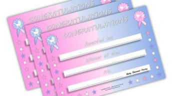 Baby Shower Party Games Prize – mum to be – 15 x Winners Certificates