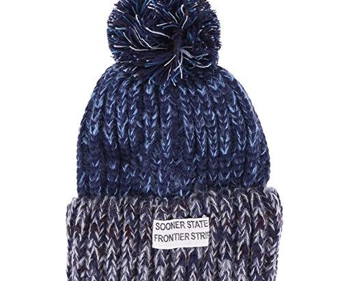 Domybest Monther Son/Daughter Winter Knitting Hats Cap Family Matching Bobble Hat (Navy Blue, Parent)