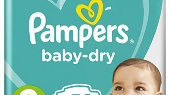 Pampers Baby-Dry with Air Channels For Breathable Dryness Overnight, Size 3, 50 Nappies, 6kg – 10kg