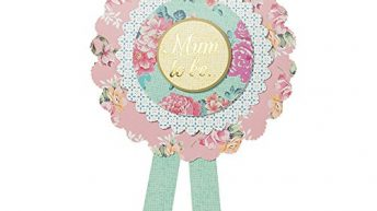 Talking Tables Truly Baby 'Mum to Be' Rosette Badge for Baby Showers and Party, Multicolour