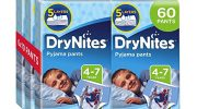 Huggies DryNites Pyjama Pants for Boys, Age 4-7 (60 Pants Total)