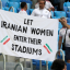 Iran Fans Stage World Cup Protest Over Ban On Women At Football Games