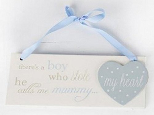 Card and Party Store New Baby Boy Wooden Plaque Hanging Sign For Mum Mummy Gift Keepsake Son