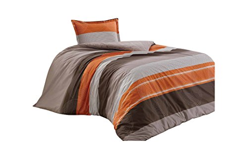 Mela quality fabrics 100% Cotton Duvet Quilt Cover & Pillowcase Bedding Set (Single)