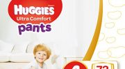 Huggies Nappies Ultra Comfort Pants Size 4, One-Month Supply – Box of 72