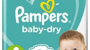 Pampers Baby-Dry Air Channels For Breathable Dryness Overnight, 86 Nappies, 9-14 kg, Size 4