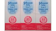 Johnsons Baby 3 in 1 Nappy Care Cream with Zinc Oxide – 3 x 110gm…