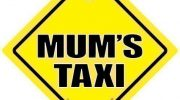 Mum's Taxi, Mum's Taxi Sign, Mum's Taxi Car Sign, Mums Taxi, Car Sign, Yellow Text, Baby on Board Sign Style, Bumper Sticker, Mums Taxi Sign, Baby On Board, Decal, Road Sign