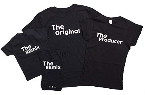 The Original The Remix Father and Baby Matching Outfits (Sold Separately) (Mum Large, Black)