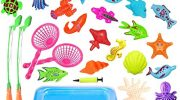 JIM'S STORE Toy Fishing Game 30 Piece Magnetic Fishing Toy Fish Bath Toys Bath Tub Game Best Gift For Baby Toddlers Kids