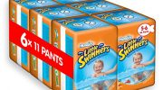 Huggies Little Swimmers Disposable Swim Nappies, Size 5-6 (66 Nappies Total)