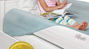 The Shrunks Sleep Security Inflatable Bed Rails (2 Pack) – Safe and Portable Toddler Bed Guard / Cot Bed Bumpers for Travel, Holiday or Home Use, 122x18x10cm fits under Bed Sheet