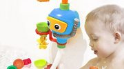 Baby Water Game Bath Toy Water Toys 3 Stackable and Nesting Cups, Submarines and Spout (No Batteries Required and Color in random)