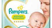 Pampers New Baby 96 Nappies, 2 – 5 kg, Size 1
