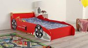 Wido Kids Racing Car Bed Toddler Wooden Frame For Mattress Size 140x70cm Junior Children's Theme Bedroom