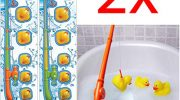 BARGAINS-GALORE 2 X HOOK A RUBBER DUCK BATHROOM BATH TIME NOVELTY FISHING GAME GIFT CHILDRENS