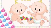 Twins Baby Shower Game – Pin the Dummy on a TWIN! (30 Dummies NO Blindfold, UNISEX)