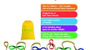 Walkodile Children's Walking Rope (12 Child). Premium Quality, UK Manufacturer, Teacher Designed. Extra Safety Feature on Handles. Hi Viz Detailing