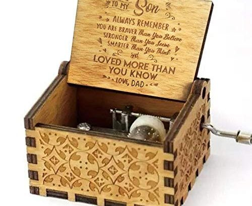 TOMMY LAMBERT Music Box Retro Classic Handmade Wooden Carved Hand Cranked Music Box Birthday Souvenir Best Gifts Dad for Son – You Are My Sunshine