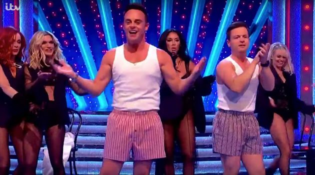Ant and Dec with the Pussycat