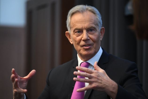 Former prime minister Tony Blair during a speech to mark the 120th anniversary of the founding of the...